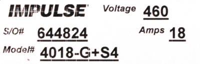 Magnetek 4018-G+S4 label image