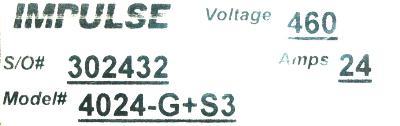 Magnetek 4024-G+S3 label image