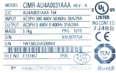 Magnetek 4024-VG+S4 label image