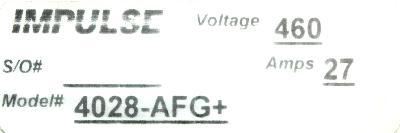 Magnetek 4028-AFG+ label image