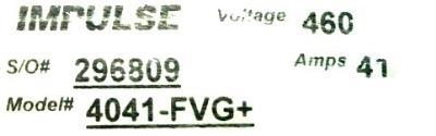 Magnetek 4041-FVG+ label image