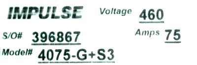 Magnetek 4075-G+S3 label image