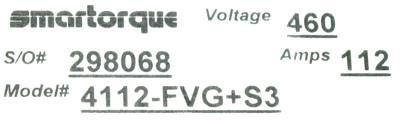 Magnetek 4112-FVG+S3 label image