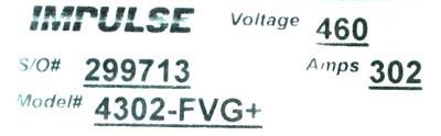 Magnetek 4302-FVG+ label image