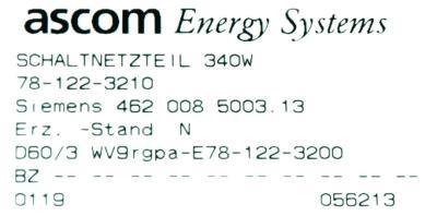Siemens 4620085003.13 label image