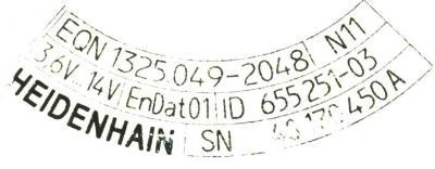 HEIDENHAIN 655251-03 label image