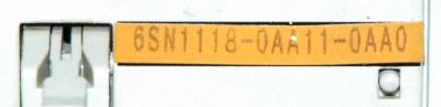 Siemens 6SN1118-0AA11-0AA0 label image