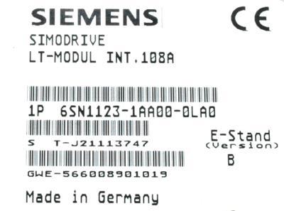 Siemens 6SN1123-1AA00-0LA0 label image
