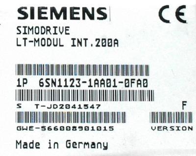 Siemens 6SN1123-1AA01-0FA0 label image