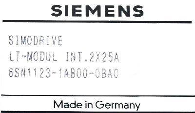 Siemens 6SN1123-1AB00-0BA0 label image