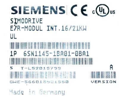 Siemens 6SN1145-1BA01-0BA1 label image