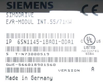 Siemens 6SN1145-1BA01-0DA1 label image