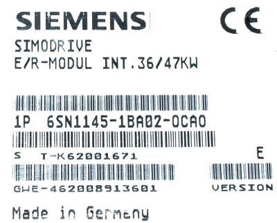 Siemens 6SN1145-1BA02-0CA0 label image