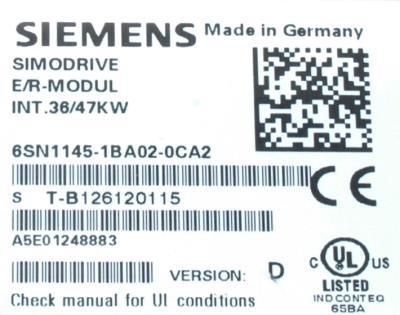 Siemens 6SN1145-1BA02-0CA2 label image