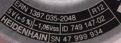 HEIDENHAIN 749147-02 label image