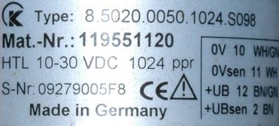 Kubler 8.5020.0050.1024.S098 label image