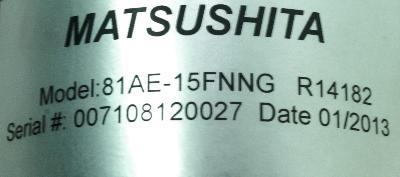 Matsushita 81AE-15FNNG Motors-DC Servo