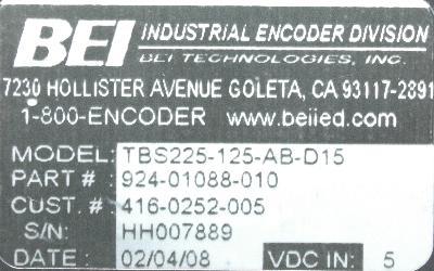 BEI ELECTRONICS 924-01088-010 image