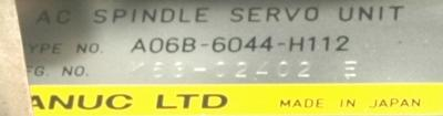Fanuc A06B-6044-H112 label image