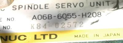 Fanuc A06B-6055-H208 label image