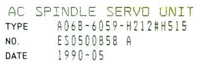 Fanuc A06B-6059-H212-H515 Drives-AC Spindle