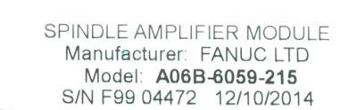 Fanuc A06B-6059-H215 Drives-AC Spindle