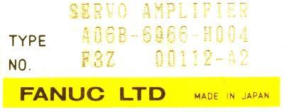 Fanuc A06B-6066-H004 label image