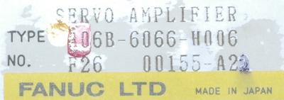 Fanuc A06B-6066-H006 label image