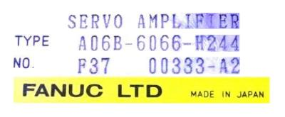 Fanuc A06B-6066-H244 label image