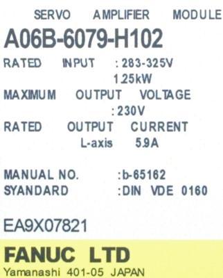 Fanuc A06B-6079-H102 Drives-AC Servo