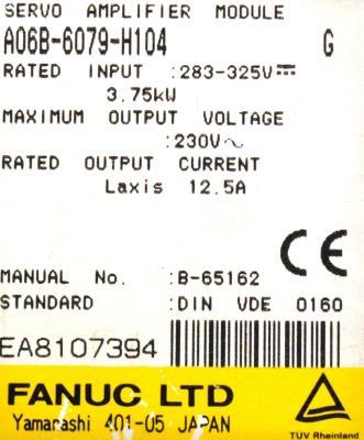 Fanuc A06B-6079-H104 label image