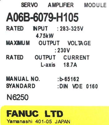 Fanuc A06B-6079-H105 Drives-AC Servo