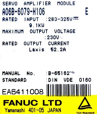 Fanuc A06B-6079-H106 Drives-AC Servo