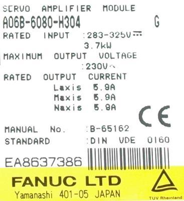 Fanuc A06B-6080-H304 Drives-AC Servo