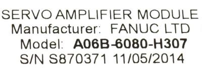 Fanuc A06B-6080-H307 label image