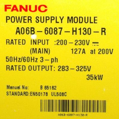 Fanuc A06B-6087-H130 back image