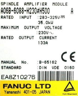 Fanuc A06B-6088-H230-H500 label image