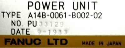 Fanuc A14B-0061-B002-02 label image