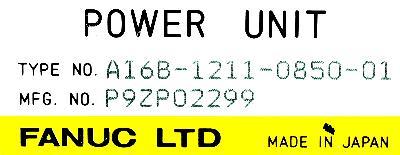 Fanuc A16B-1211-0850-01 label image