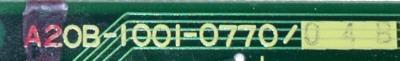 Fanuc A20B-1001-0770-04B label image