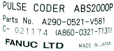 Fanuc A290-0521-V581 label image