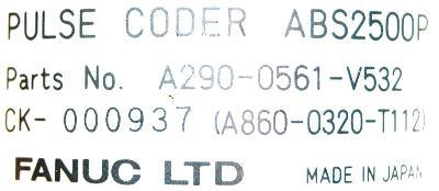 Fanuc A290-0561-V532 label image