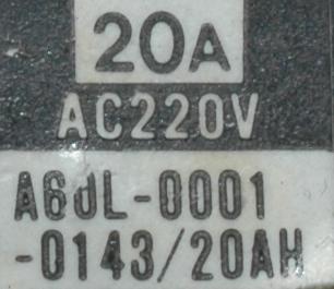 Fanuc A60L-0001-0143-20AH label image