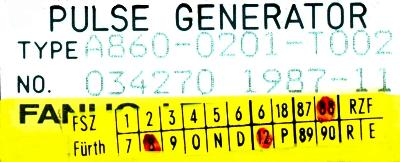 Fanuc A860-0201-T002 label image