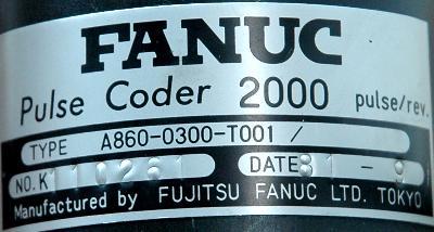 Fanuc A860-0300-T001 label image