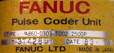Fanuc A860-0303-T002 label image