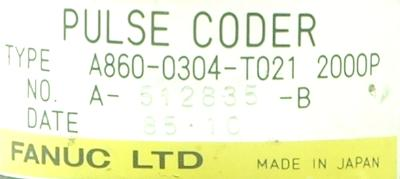 Fanuc A860-0304-T021 label image