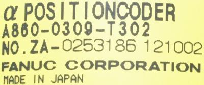 Fanuc A860-0309-T302 label image