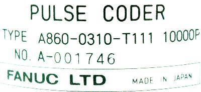Fanuc A860-0310-T111 label image