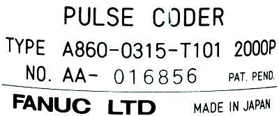 Fanuc A860-0315-T101 label image
